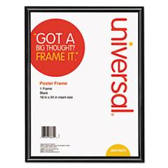 Glossy Black Poster Frame, 18 x 24