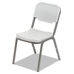 Rough N Ready Series Original Stackable Chair, Platinum/Silver, 4/Carton