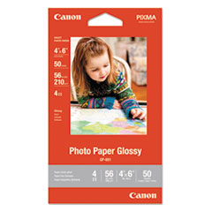 GP-601 Glossy Photo Paper, 4 x 6, 56 lb, 50 Sheets/Pack