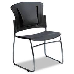 ReFlex Series Stacking Chair, Black, 19w x 19d x 33h