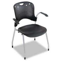 Circulation Series Stacking Chair, Black, 25 x 23-3/4 x 34