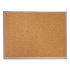 Classic Cork Bulletin Board, 24 x 18, Silver Aluminum Frame