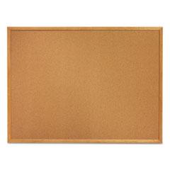 Classic Cork Bulletin Board, 24 x 18, Oak Finish Frame