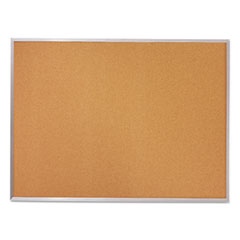Cork Bulletin Board, 96 x 48, Silver Aluminum Frame
