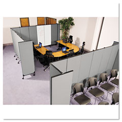 GreatDivide Wall System Fabric Starter Set, 97w x 3d x 72h, Gray BLT74768