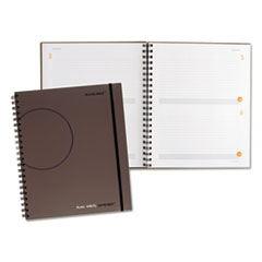 Plan. Write. Remember. Planning Notebook Two Days Per Page, 9 3/16 x 11, Gray
