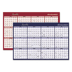 Reversible Horizontal Erasable Wall Planner, 48 x 32, 2017
