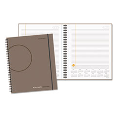Plan. Write. Remember. Notebook with Reference Calendar, 8 9/16 x 11, Gray