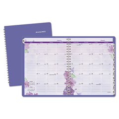 Beautiful Day Monthly Planner, 8 1/2 x 11, Purple, 2017-2018