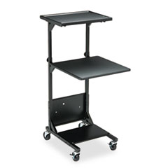Adjustable Height Projection Stand, Three-Shelf, 18w x 20d x 42h, Black BLT81052