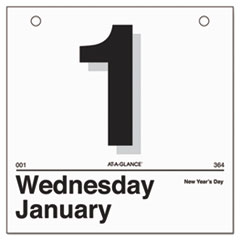 """Today Is"" Daily Wall Calendar Refill, 6 x 6, White, 2015"