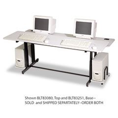 Split-Level Computer Training Table Base, 72w x 36d x 33h, Black (Box Two) BLT83251
