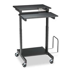 Web A/V Stand-Up Workstation, 34w x 31d x 44-1/2h, Black BLT85052