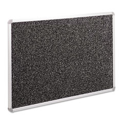 Recycled Rubber-Tak Tackboard, 36 x 24, Black w/Aluminum Frame