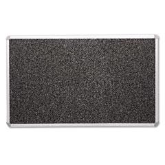 Recycled Rubber-Tak Tackboard, 72 x 48, Black w/Aluminum Frame