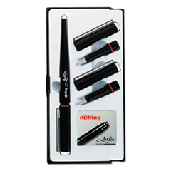 ArtPen Calligraphy Pen Set with Three Nibs, Black Cartridges