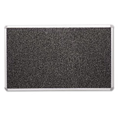 Recycled Rubber-Tak Tackboard, 96 x 48, Black w/Aluminum Frame