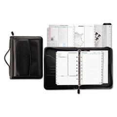 Vinyl/Microfiber Briefcase Starter Set, 5 1/2 x 8 1/2, White