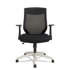 Alera EB-K Series Synchro Mid-Back Mesh Chair, Black/Cool Gray Frame
