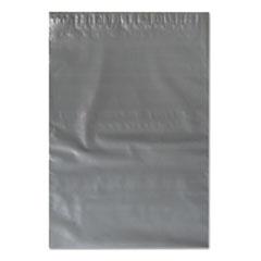 Flat Poly Mailer, Polyethylene, 12 x 15 1/2, Gray, 500/Carton