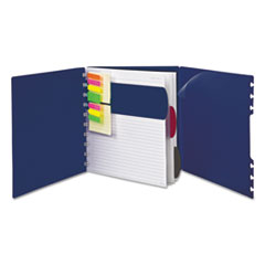 Versa Crossover Notebook, Legal/Wide, 24 lb, 11 x 8 1/2, Navy, 60 Sheets, 2/Pack