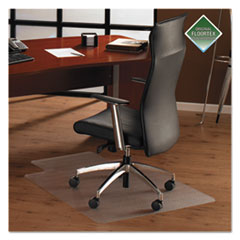 Cleartex Ultimat Polycarbonate Chair Mat for Hard Floors, 35 x 47, w/Lip, Clear
