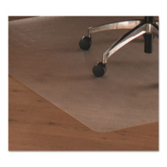 Cleartex Ultimat Polycarbonate Chair Mat for Hard Floors, 48x53, w/Lip, Clear FLR1213419LR