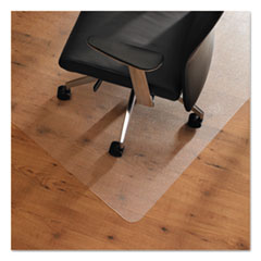 Cleartex Ultimat Anti-Slip Chair Mat for Hard Floors, 48 x 53, Clear