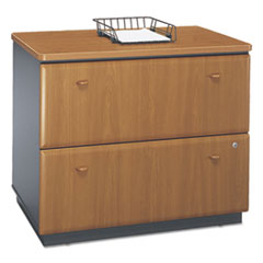 Series A Collection 2 Drawer 36W Lateral File (Assembled), Natural Cherry