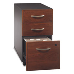 Series C Collection 3 Drawer Mobile Pedestal (Assembled), Hansen Cherry