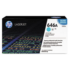 HP 646A, (CF031A) Cyan Original LaserJet Toner Cartridge