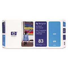 HP 83 (C4961A) UV Cyan Printhead and Cleaner