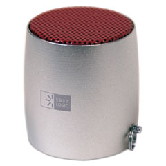 Mini Speaker, Silver/Red