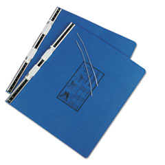 Pressboard Hanging Data Binder, 14-7/8 x 11, Unburst Sheets, Blue