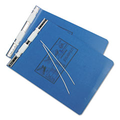 Pressboard Hanging Data Binder, 9-1/2 x 11, Unburst Sheets, Blue