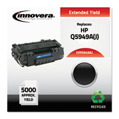 5949AJ Compatible Reman Q5949A (49A) Extended-Yield Toner, 5000 Page-Yield,Black