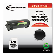 Remanufactured 50F0UA0 (MS510M) Ultra High-Yield MICR Toner, Black
