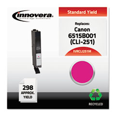 CLI251M Compatible Reman 6515B001 (CLI-251M) Ink, 298 Page-Yield, Magenta
