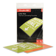 UltraClear Thermal Laminating Pouches, 3 mil, 9 x 11 1/2, 25/Pack