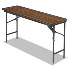 Premium Wood Laminate Folding Table, Rectangular, 60w x 18d x 29h, Oak ICE55275