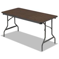 Economy Wood Laminate Folding Table, Rectangular, 60w x 30d x 29h, Walnut ICE55314
