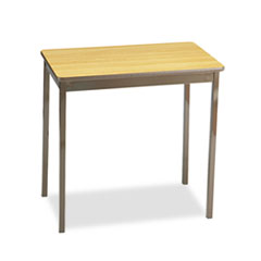 UTILITY TABLE, RECTANGULAR, 30W X 18D X 30H, OAK