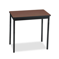 UTILITY TABLE, RECTANGULAR, 30W X 18D X 30H, WALNUT