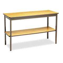 UTILITY TABLE, RECTANGULAR, 48W X 18D X 30H, OAK