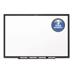 Classic Melamine Dry Erase Board, 72 x 48, White Surface, Black Frame
