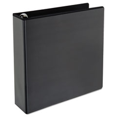 "Comfort Grip Round Ring View Binder, 2"" Capacity, 9-1/2 x 11, Black"