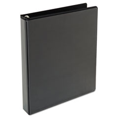 "Comfort Grip Round Ring View Binder, 1"" Capacity, 8-1/2 x 11, Black"