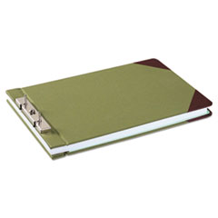 "Canvas Sectional Storage Post Binder, 3"" Cap, 8 1/2 x 14, Green"