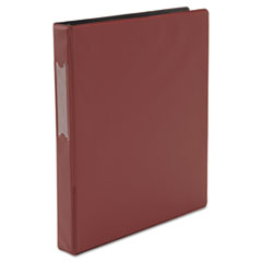 "D-Ring Binder, 1"" Capacity, 8-1/2 x 11, Burgundy"