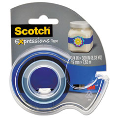 "Expressions Magic Tape w/Dispenser, 3/4"" x 300"", Dark Blue"